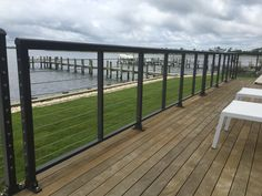 Bronze Cable Rail | Oak Construction | Rehoboth Beach Stainless Steel Cable Railing, Cable Railing Systems, Rehoboth Beach, Deck, Bronze, Construction, Outdoor Decor, Building, Decks