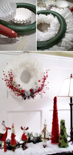Filter Christmas Wreath