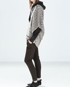 Image 1 of OVERSIZE FUZZY SWEATER from Zara