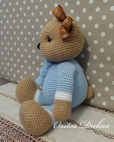 Celeste #Ositos Dulces #Doll crochet #Amigurumisdolls #Crochet #Muñeca a crochet #Ganchillo #dollcrochet #Amigurumis #osita a crochet #Amigurumipattern #Doll #Dollspatterns #Amigurumibear #Teddy bear