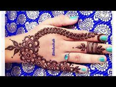 Easy Mehndi Design for Beginners Mehendi, Henna Mehndi, Henna Art, Mehndi Design Pictures, Mehndi Images, Beautiful Henna Designs, Simple Mehndi Designs, Henna Tattoo Designs, Mehandi Designs