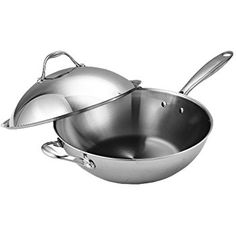 Cooks Standard 13-Inch Multi-Ply Clad Stainless Steel Wok Stir Fry Pan with Dome Lid