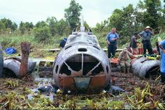 These 3 Boeing B-17 Flying Fortress bombers, Swamp Ghost, Gray Ghost and Black Jack, crashed on Papua New Guinea during WW2 and survive remarkably intact