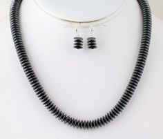Hematite Necklace Set Listing  100046208 by Ptcreationsjewelry, $35.00