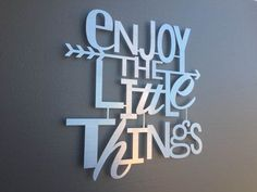 Enjoy The Little Things Metal Wall Art - Home Decor - Wall Art - Wall Decor…