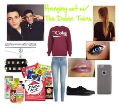 Hanging out w/ The Dolan twins Outfit by alondrathequeen on Polyvore featuring Topshop, H&M, Wet Seal, Vans, Valentino, Case-Mate, River Island, women's clothing, women's fashion and women