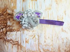 Alzheimer's awareness shabby and headband. Memory elephant, cute for Alz walks and showing your support daily!