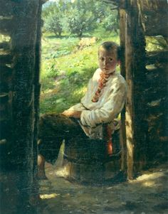 "Nikolai Ge: ""Portrait of a Ukrainian boy"" , date unknown, oil on canvas,  Location:	Kiev National Museum of Russian Art  (Ukraine - Kiev)"