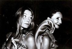 Carla Bruni and Jacqueline de Ribes, Volpi ball in Venice, 1991