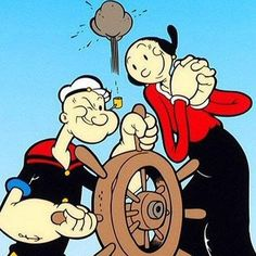 Popeye et Olive Oil Popeye Et Olive, Popeye Le Marin, Personnages Looney Tunes, Popeye Cartoon, Popeye The Sailor Man, Cartoon Photo, Saturday Morning Cartoons, Old Tv Shows, Classic Cartoons