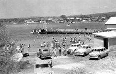 MOOLOOLAH RIVER, MOOLOOLABA QLD AUSTRALIA 1955/BATHING AREA