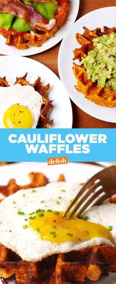 Cauliflower WafflesDelish