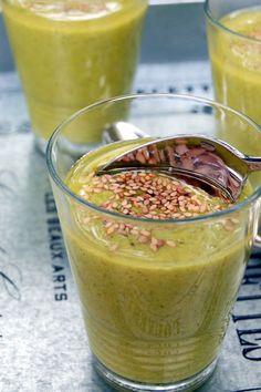 Soupe indienne froide à la courgette ; si rafraîchissante! (Recette indienne)