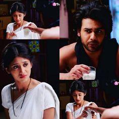 ♥♥♥ Lakhan: Doodh pelo Poonam: Hame ..doodh nahi peena Lakhan: Puch nahi rahe hai. Bata rahe hai.  #begusarai #andtv #lakham #vishi #lakhan #poonam #zeetv #tellywood #indian #telly #hindiserial #romance #drama #indianserial #shivangijoshi #vishaladityasingh