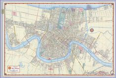 cool New Orleans Map