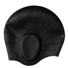 d5141a273 Dolpind Silicone Long Hair Swim Caps Bathing Hats with Ergonomic Ear  Pockets to Cover Ears Unisex for Men and Women (Black