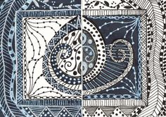 Zentangle Diptych