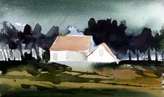Painting Process, Pictures To Paint, Vibrant Colors, Watercolor, Landscape, Nature, Inspiration, Art, Pictures