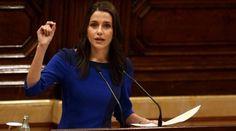 Inés Arrimadas durante una intervención en el Parlamento de Cataluña.