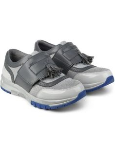 Six Lee x Aqua Two Grey 2tone Tessel Sneakers Model Picture
