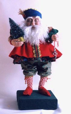 One of my favorites! Hand made Santa Art Doll