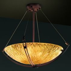 """Justice Design Group GLA-9721 18"""" Bowl Pendant with Crossbar from the Veneto Luce Collection - LightingDirect.com Kobby likes alot"""