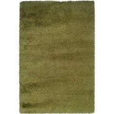 Oriental Weavers Contemporary Green Gold Polypropylene Shag Machine-Woven Area Rug