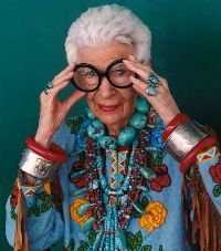"One of New York's most famed senior designers, Iris Apfel, thinks women should be imprisoned for wearing ""bad clothes."" I think she's serious. The 90-year-old fashion icon with trademark owl glasses and monster jewelry recently ranted about Americans and style in an interview with The Telegraph.    ""It was fabulous [in the '50s]; everyone looked beautiful,"" Apfel said. ""Now I just want to throw up. … Ten years ago people were starting to look like slobs in New York, now it's an epidemic."""