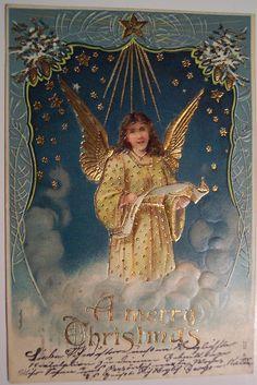 Vintage Christmas Postcard - Angel | Flickr - Photo Sharing!