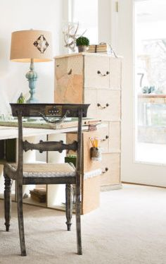 Small Spaces Decoupage File Cabinet