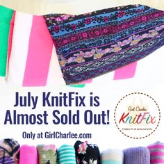 July KnitFix is almost sold out!! There are still a few bags left, so shop now and receive your tote stuffed full of 12 yards of gorgeous surprise knits. Looking for a specific fabric? Just leave a comment with your order and we will do our very best to accommodate all requests. Quantities are limited, so don't wait!