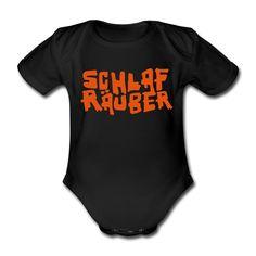 Babystrampler Schlafräuber (Strampler Babystrampler Onsie Romper Babybody) Eigentlich hoch kriminell, wieviel Schlaf so ein kleines Kind auf dem Gewissen hat. Aber wer kann dem kleinen Schlafräuber schon böse sein, erst recht, wenn er so einen süßen Strampler trägt.