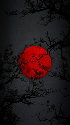 Red Moon Night iPhone Wallpaper - iPhone Wallpapers