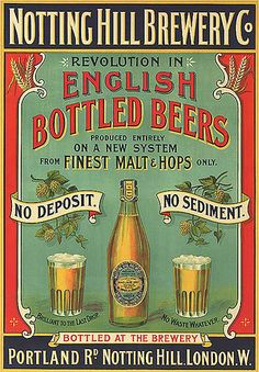 NOTTING HILL BREWERY CO. ADVERTISEMENT 1899 POSTER