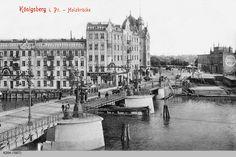 Königsberg Holzbruecke Кёнигсберг Деревянный мост в сторону острова Ломзе. ул.Карбышева