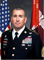 CSM Michael T Stoddard, Command Sergeant Major, Womack Army Medical Center, May 13, 2016.