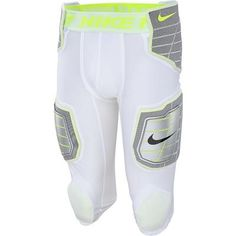 CHAMPRO Uni Fit 7 pc Integrated Football All-in-One Pads Pants Youth White Med