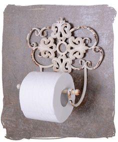 TOILET PAPER HOLDER WHITE TOILET ROLL HOLDERS SHABBY CHIC TOILET ROLL HOLDER | eBay #shabbychicdecorbathroom