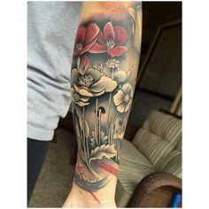 d8e6b1b75 David Mushaney - Rebel Muse Tattoo Studio Rebel Muse Tattoo, Temple Tattoo,  Poppies Tattoo