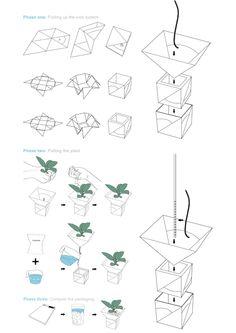 Wick micro-gardens by Benjamin Kamp, via Behance