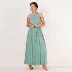 The Color Of The Summer!   Women's LC Lauren Conrad Shimmer Maxi Dress