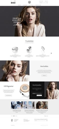 Gulldia Design Ecommerce website by Kréatif web design inspiration Layout Design, Website Design Layout, Web Layout, Website Designs, Website Ideas, Ecommerce Web Design, Web Ui Design, Email Design, Homepage Design