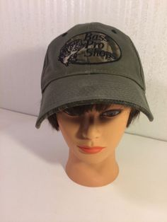 96d6e809b4a Bass Pro Shops Mens Cap Army Olive Green Sturdy Twill Cotton Strap Back  CamoBrim