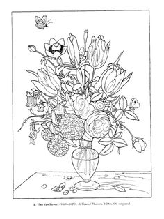 Dover Color Your Own Great Flower Paintings