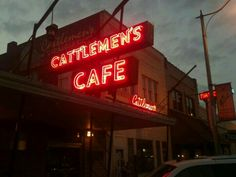 Cattlemen's Steakhouse is the best restaurant in Oklahoma City, OK. Presidents have dined here, literally where the cattle is sold, with steaks fresher than anywhere in the state. Yes, they have lamb fries. Oklahoma State University, Tulsa Oklahoma, Travel Oklahoma, Oklahoma City, Oklahoma Musical, Oklahoma Sooners, Route 66, Great Steak
