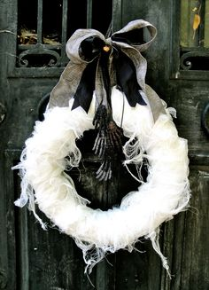 Halloween Wreath, Mummy's Tomb Wreath