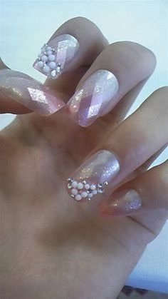 Sweety pink french nails 2015