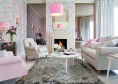 Интерьер гостиной в светло-розовых тонах! #интерьер #интерьергостиной #interior #style #design #lauraashleyru