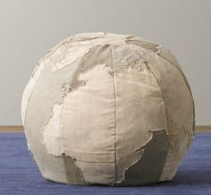 Globe Ottoman/World Map Ottoman - embroider hearts on all the places you love/ have lived/ loved ones live/ etc!!!