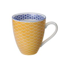 Looking for Tokyo Design Studio Star Wave Mug Yellow? Find this and a range of other Tokyo Design Studio available to purchase from the Twinings Tea Shop today Twinings Tea, Yellow Mugs, Tokyo Design, Style Japonais, Ceramic Tableware, Porcelain Mugs, Star Patterns, Tea Mugs, Mug Designs